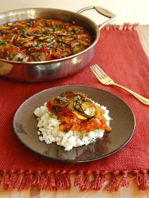 Spicy smoky ratatouille casserole