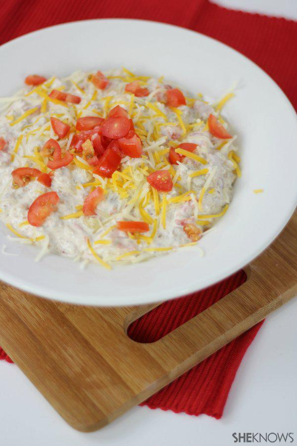 Game day sausage and cream cheese dip