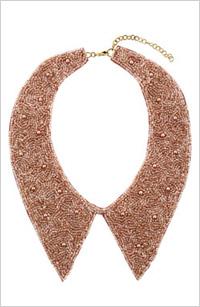 Topshop beaded collar, $30