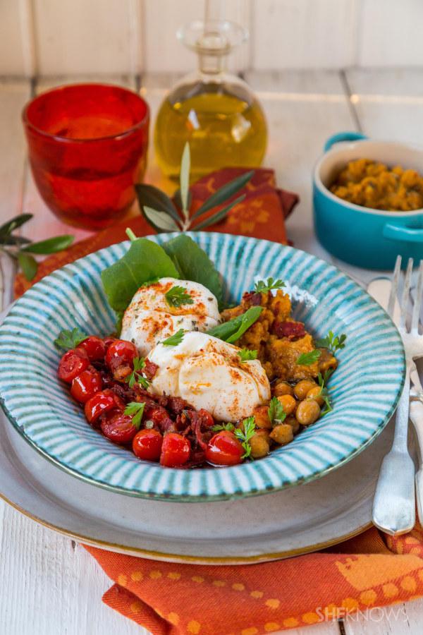 Spanish salad with burrata recipe