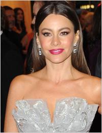 Sofia Vergara at Met Gala wearing gray