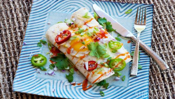 Spicy breakfast enchiladas recipe