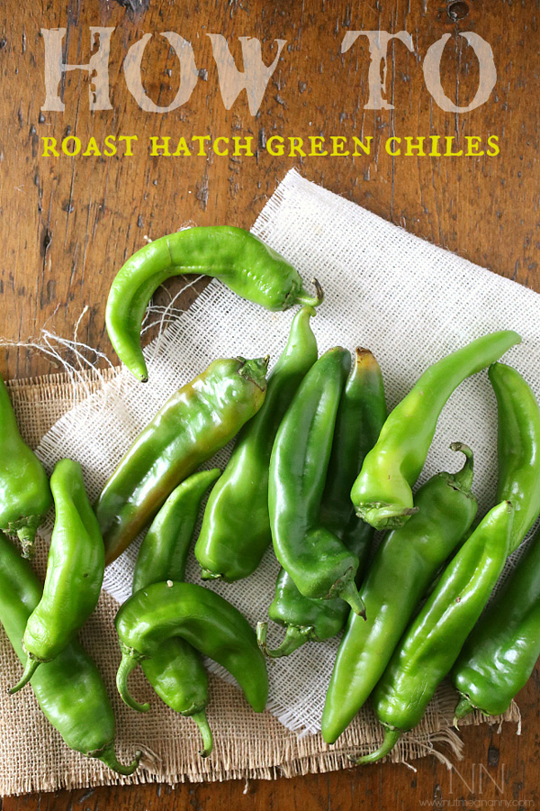 Roasting Hatch chiles