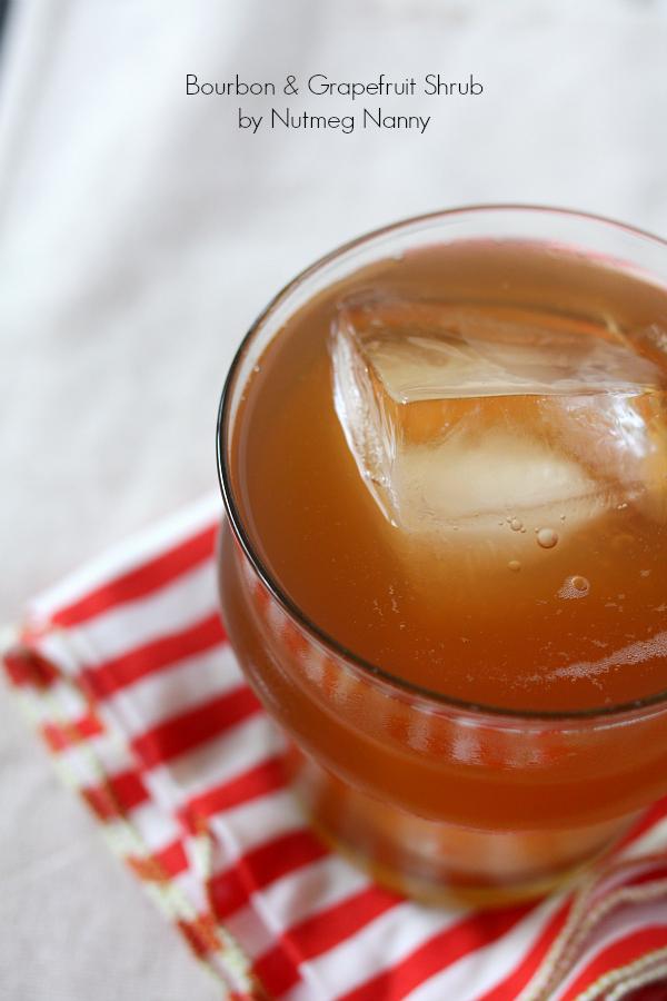 Bourbon & grapefruit shrub