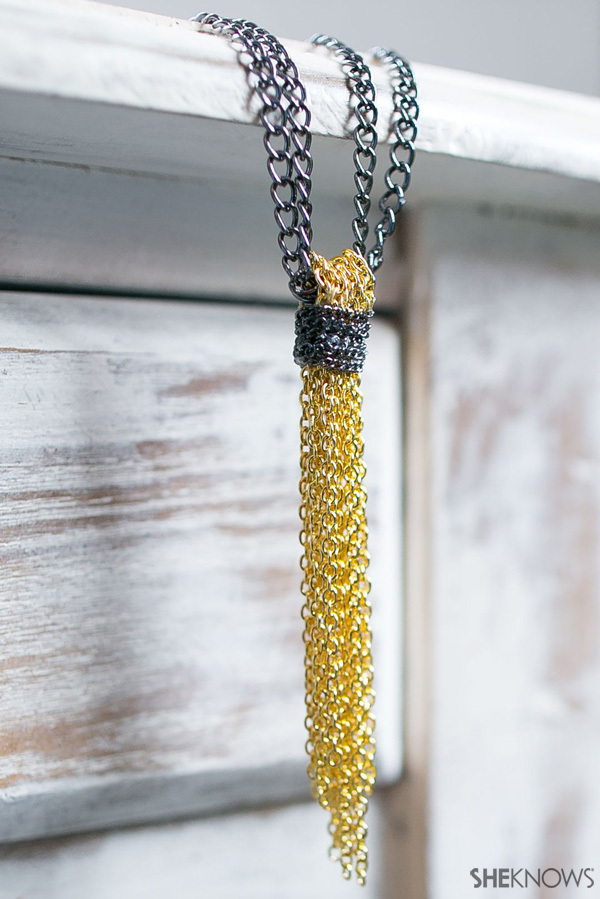 DIY Chain tassel necklace | SheKnows.com
