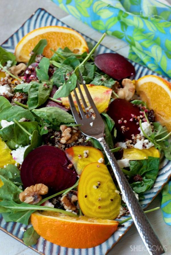 Summer citrus beet salad with quinoa recipes