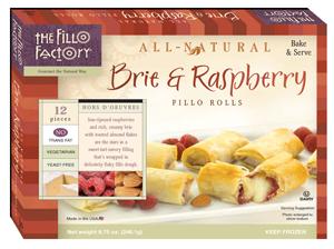 Fillo Factory Brie and Raspberry Fillo Rolls
