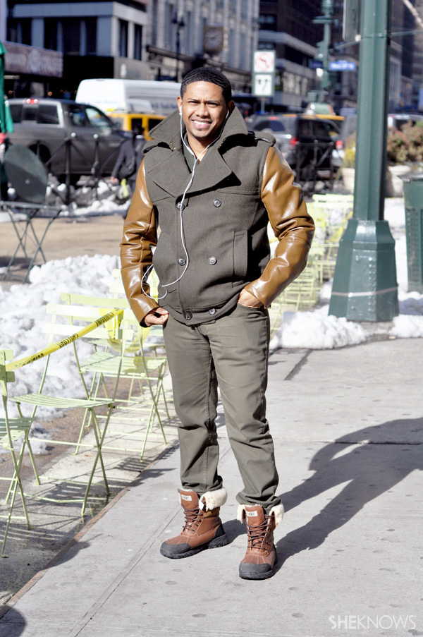 Guys definitely love the leather trend just as much as the ladies.