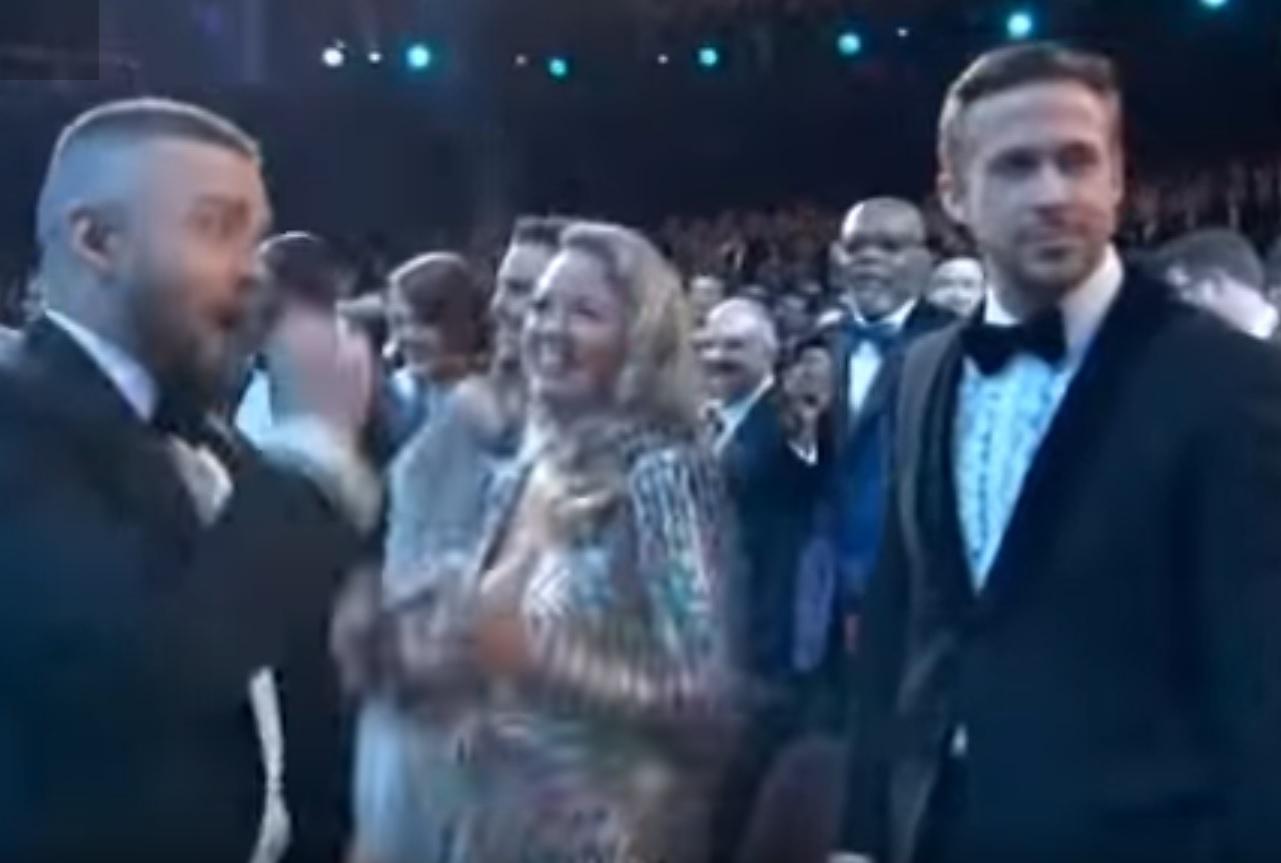Justin Timberlake and Ryan Gosling Oscars 2017