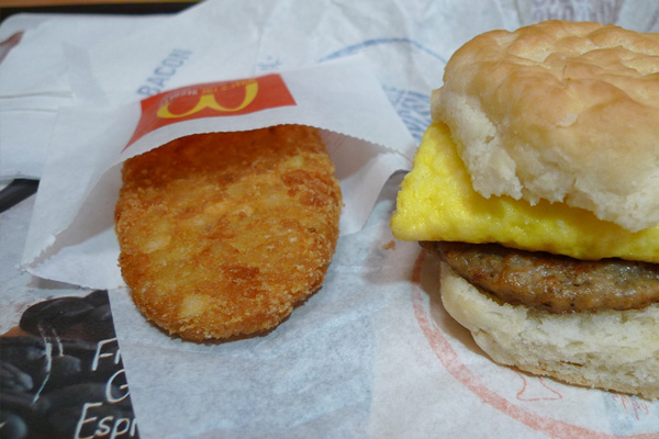 Hash browns from McDonalds