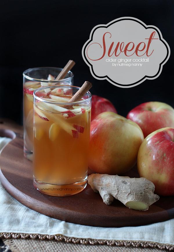 Sweet cider ginger cocktail