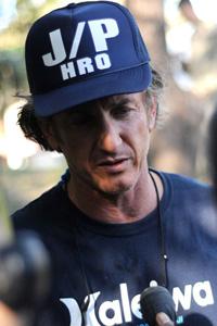 Sean Penn in Haiti