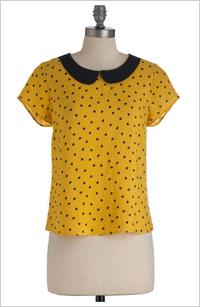 Modcloth yellow top, $30