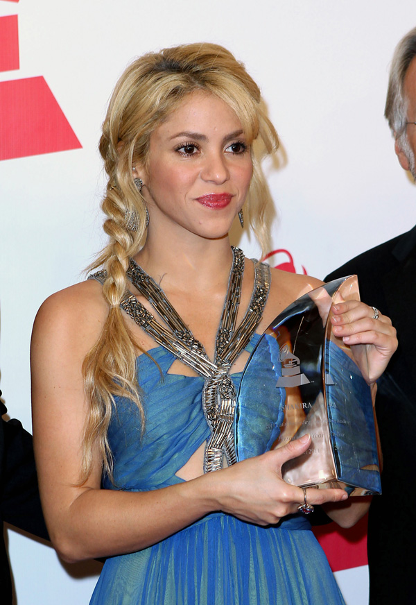 Shakira with side braid at the 2011 Latin Recording Academy Person of the Year Tribute to Shakira held at Mandalay Bay Resort and Casino