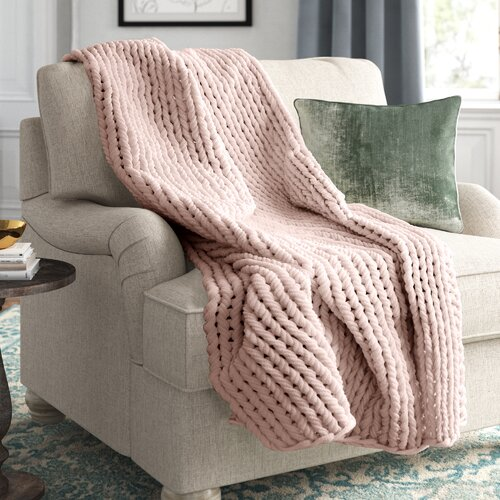 Kelly Clarkson Home Collection Blush Throw.