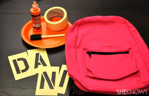 DIY stencil backpack