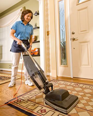 Housekeeper with vacuum