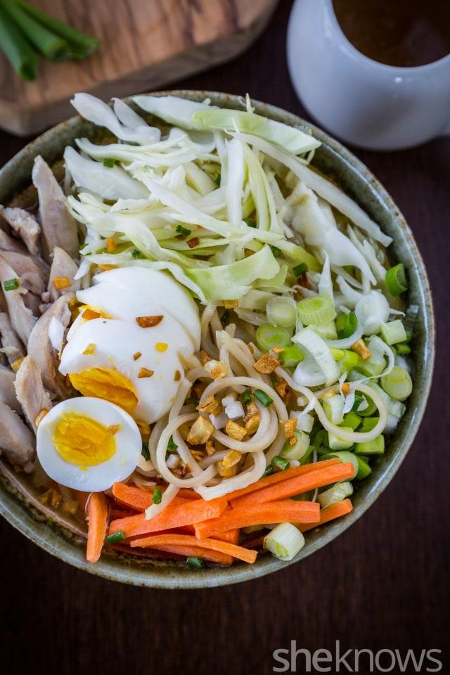 Chicken egg noodle soup 2