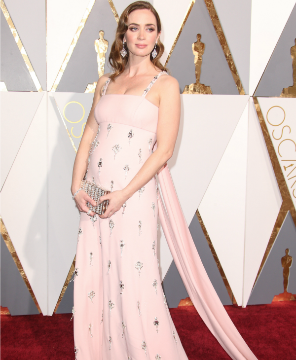 Pregnant Emily Blunt at the Oscars