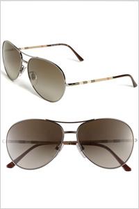 Sunglasses: Burberry aviator sunglasses