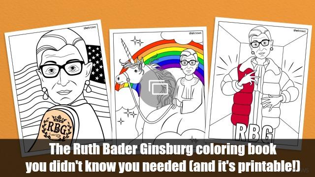 Ruth Bader Ginsburg coloring book