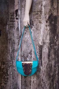turquoise Postina armadillo handbag by Arnoldo][Battois