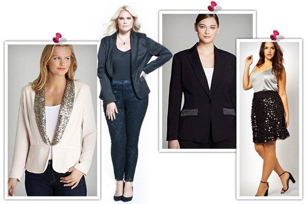 Glitzy holiday outfits for the plus-size woman -- Seperates