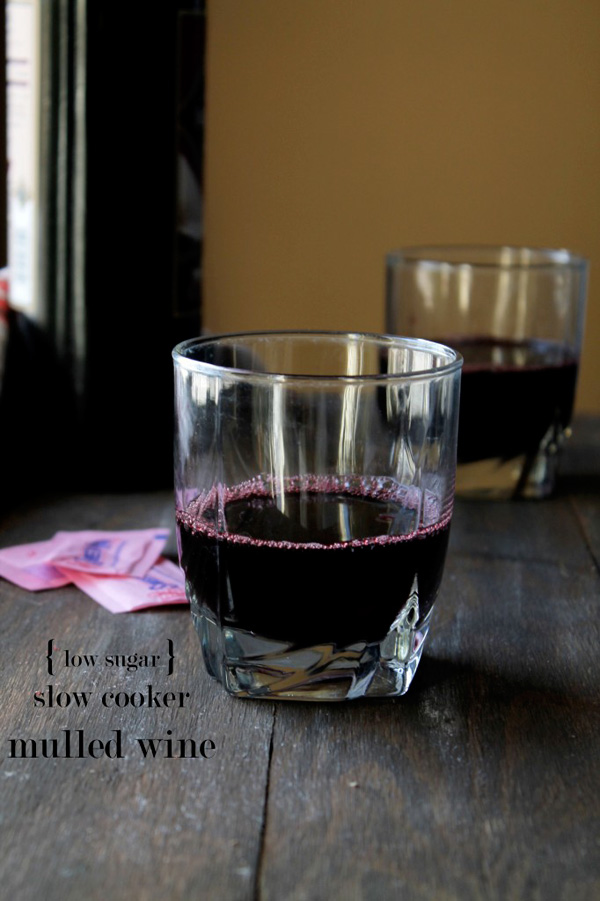 Slow cooker, low sugar mulled wine