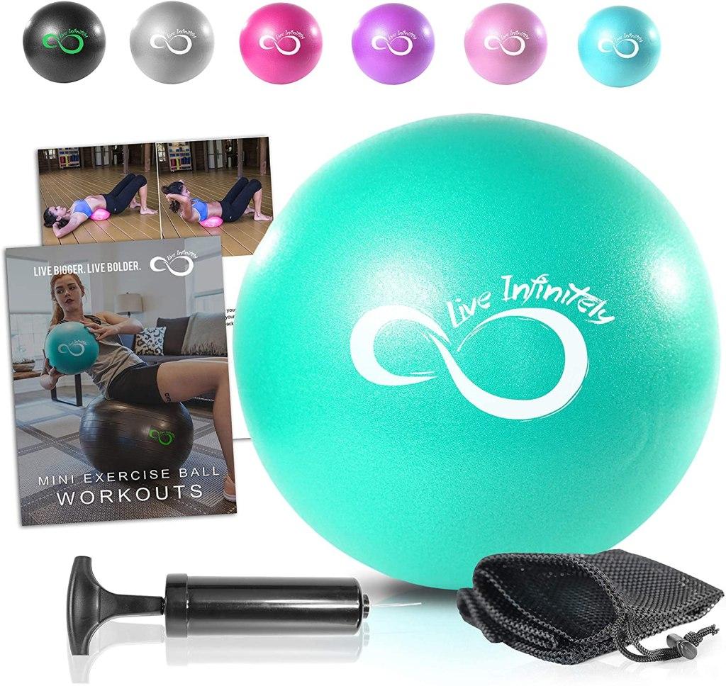 Live Infinitely Best Mini Pilates Ball on Amazon