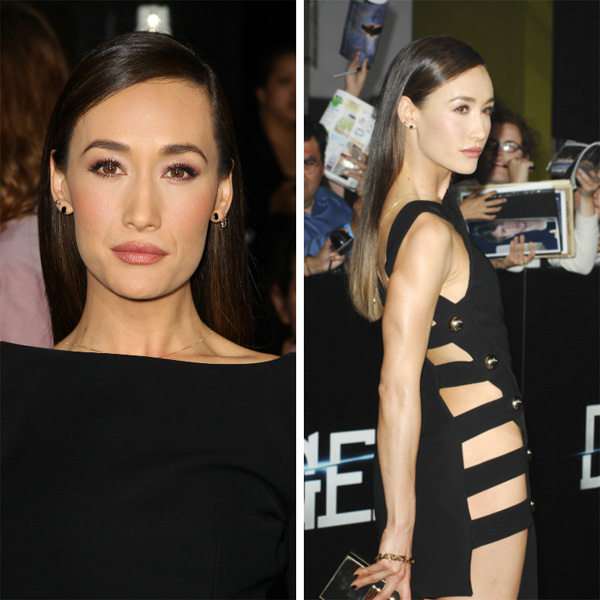 Maggie Q at premiere for Divergent