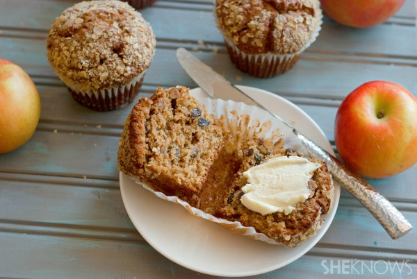 Vegan apple raisin bran muffins recipe