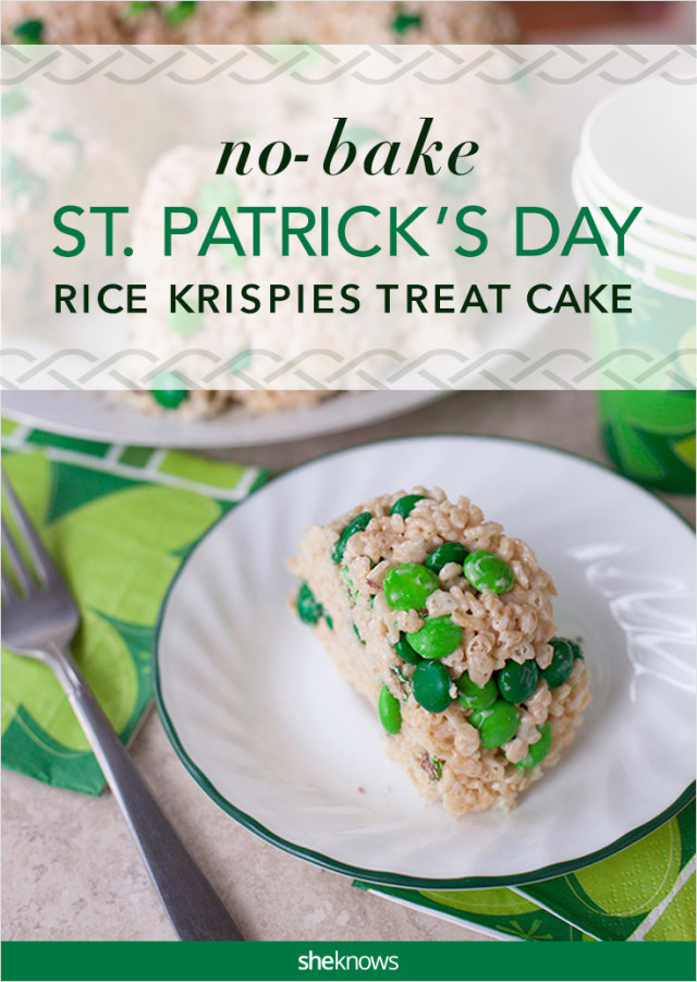 no bake St. Patrick's Day cake