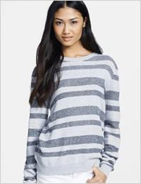 "A.L.C ""Cooper"" stripe cotton sweater (Nordstrom, $245)"