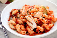 Grilled chicken and sundried tomato pasta