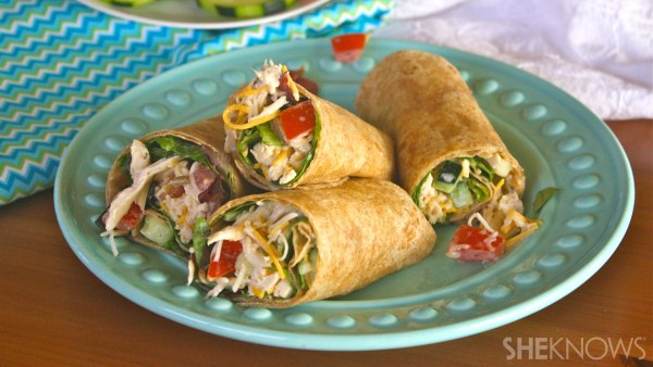 Ranch chicken and bacon wraps