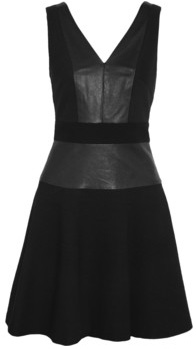 DKNY Leather and Canvas Dress
