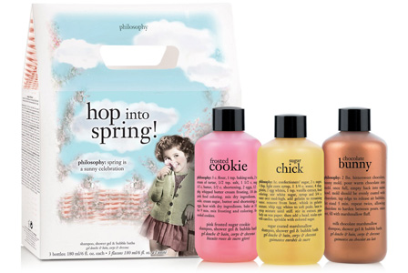 Easter bath set from philosophy