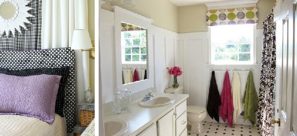 Budget headboard and budget bathroom decor