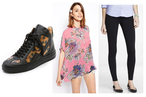 Rule #3: Purchase a pair of high top fashion sneakers in a fun print
