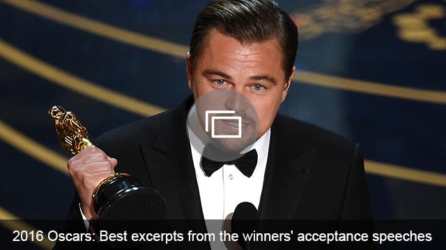oscars 2016 speeches slideshow