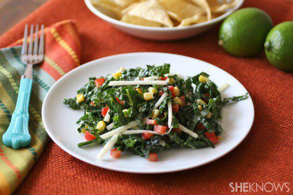 Southwestern kale salad with lime dressing