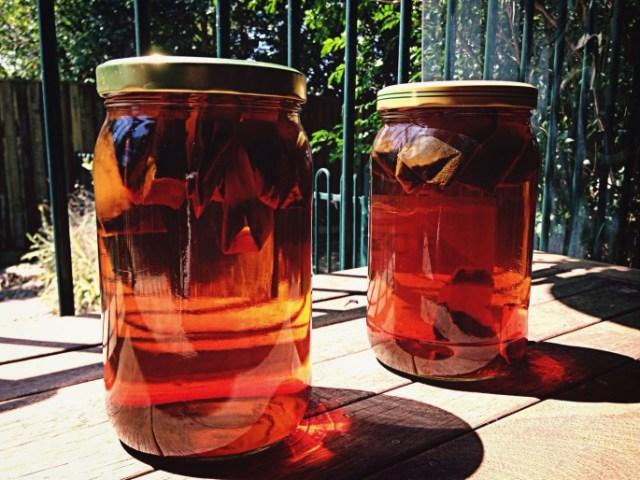 Sun tea jars