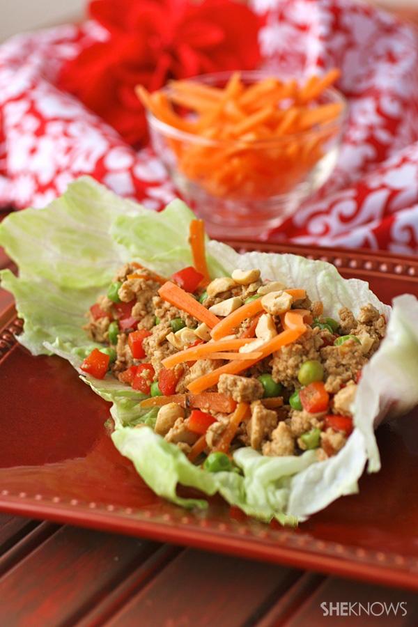 Quick & easy tofu and veggie lettuce wraps