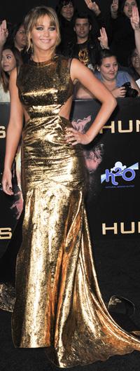 Jennifer Lawrences at The Hunger Games premiere -- LA