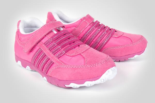 Pink velcro sneakers