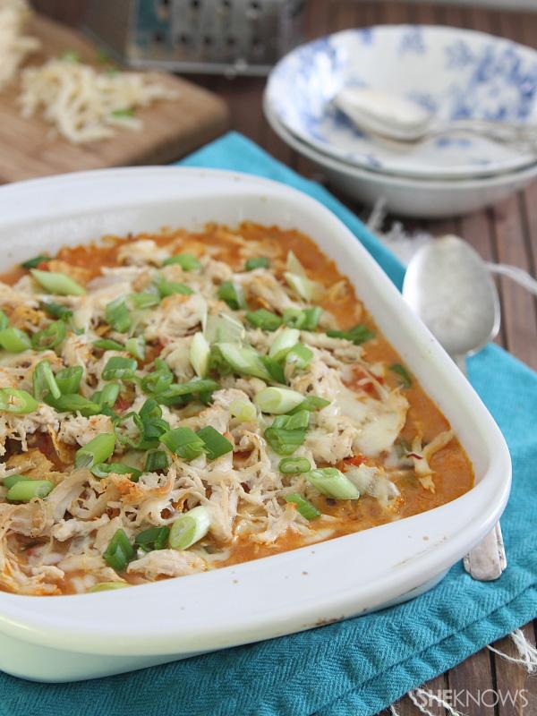 Spicy southwest cheesy chicken bake