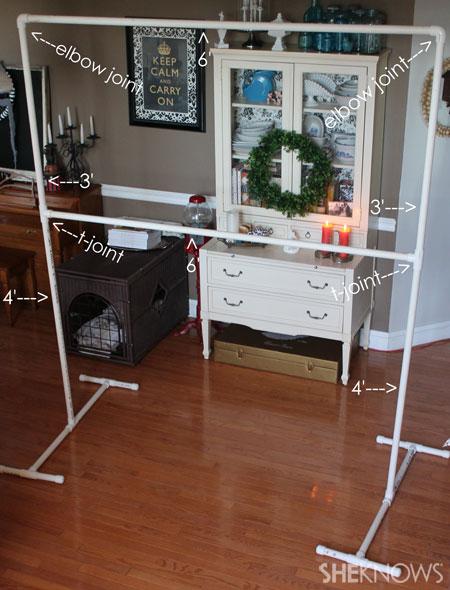 DIY backdrop and frame: Assemble frame