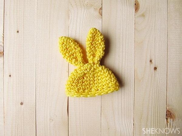 Crochet Easter egg hats: Bunny Ears