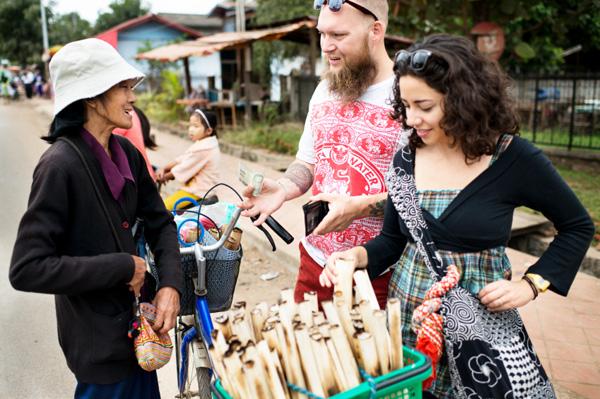 Tourists in Luang Prabang, Laos