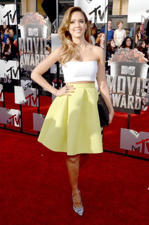 Jessica Alba at the 2014 MTV Movie Awards